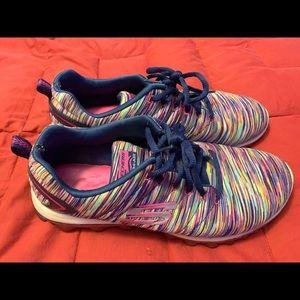 Skechers multi color memory foam size 9
